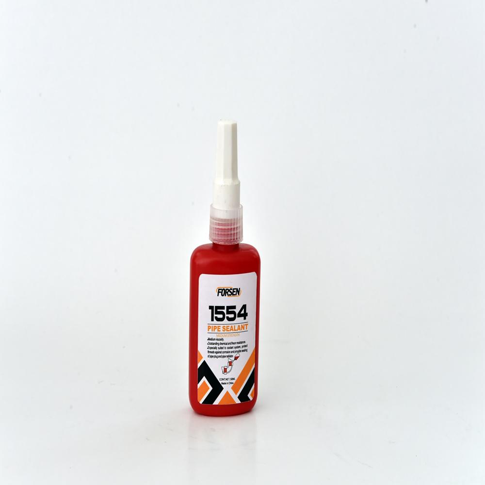 Hubei high viscosity 50ml pipe thread sealant 554 <strong>adhesive</strong> 1554