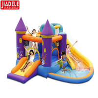 Factory Price Oxford Cloth Princess inflatable bouncy castle with water slide,giant inflatable bounce house