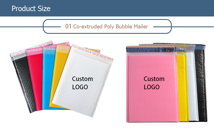 Wholesale Custom Poly Bubble Mailers Padded Envelopes Shipping Bags Print logo