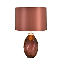fabric shade glass pose brown white contemporary luxury european dining dimmable 220volt electric bedside led table lamp