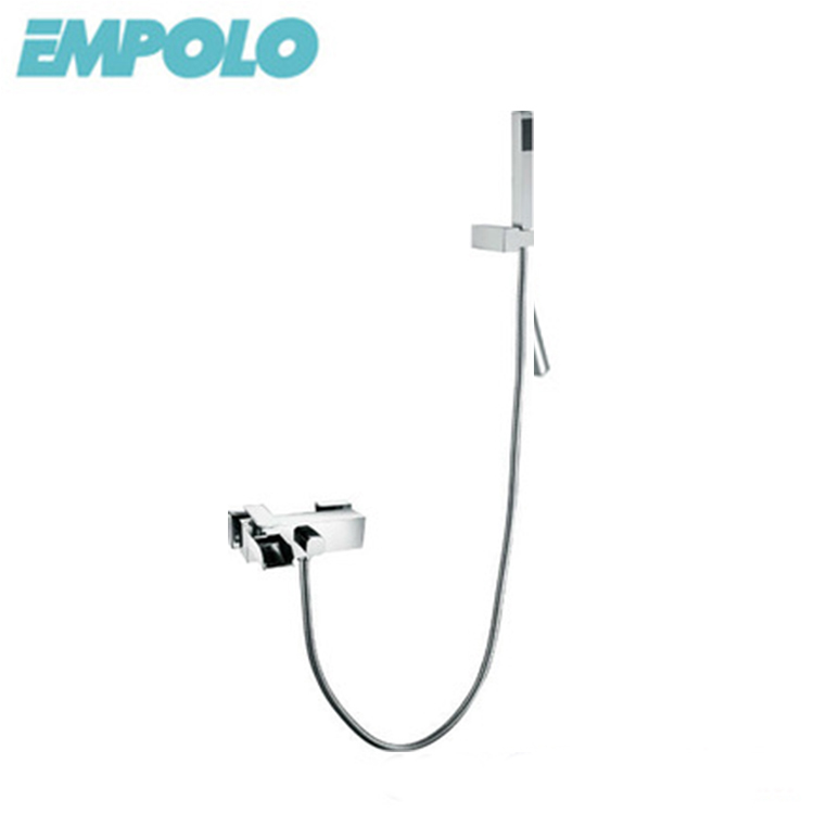 Bathroom Conceal Chrome Brass Shower Faucet Complete Set With 8 Inch Shower Head