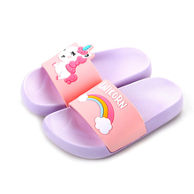Free Shipping Simple Design Custom Kids Unicorn <strong>Slippers</strong>