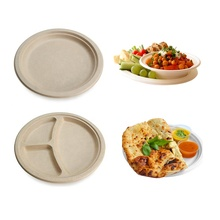 7&quot; Eco friendly Disposable Sugarcane Bagasse Compostable Biodegradable <strong>Plates</strong>
