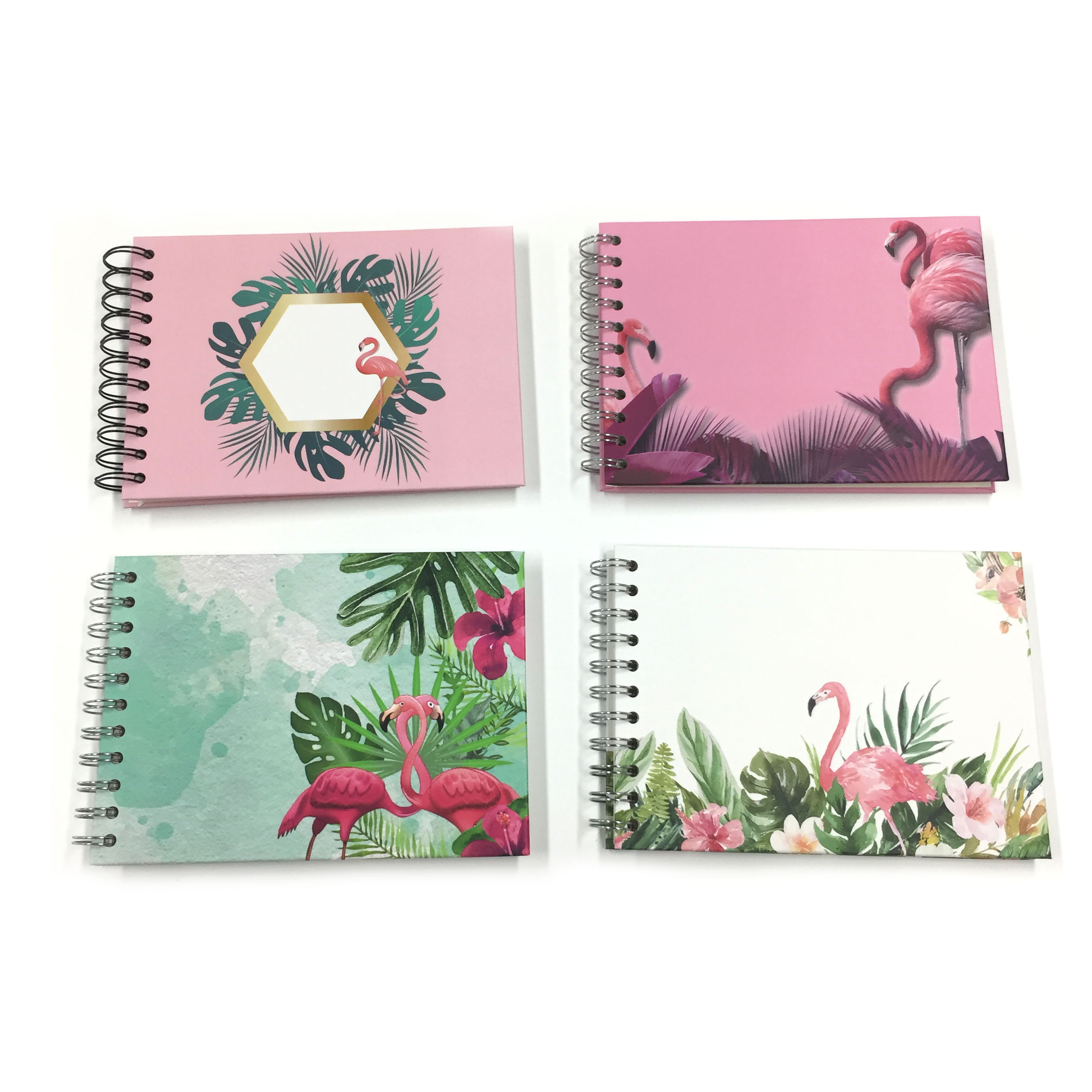 Mini Size  Spiral Bound Scrapbook Cute Wholesale Photo Album With Blank White DIY Stick Pages