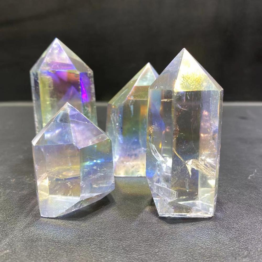 Wholesale Natural Angel Aura Gemstone Wands Quartz Obelisk Aura Clear Quartz <strong>Points</strong> For Decoration