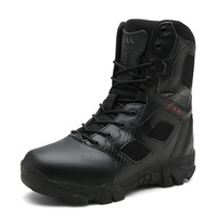 waterproof ankle safety leather hunter swat soldier desert jungle combat delta military tactical army men boots