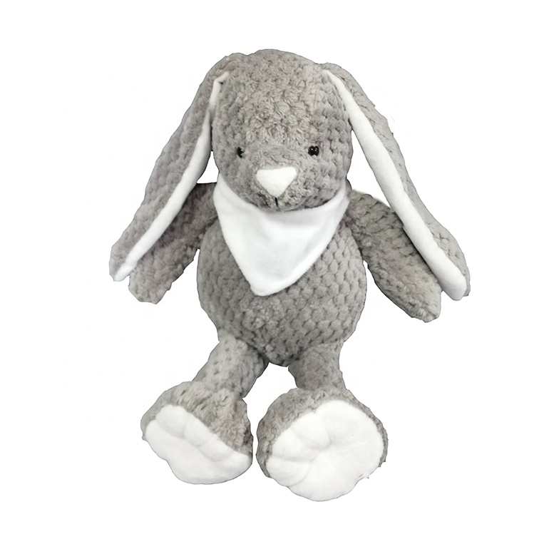 passed EN71 30cm cuddly toy white and grey <strong>rabbit</strong> soft Bashful Beige Bunny