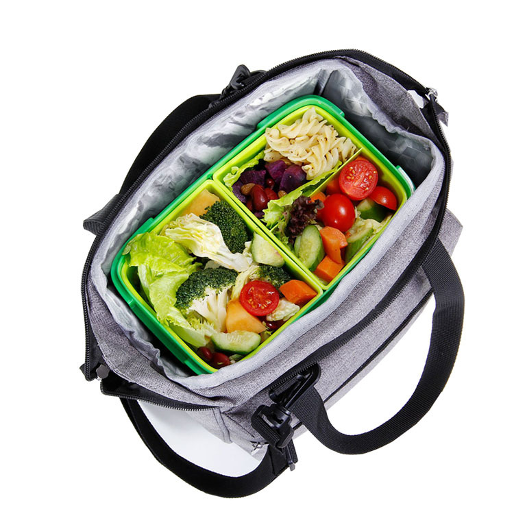 High Quality Cooler Customized Lunch Bag With Handle And Adjustable Strap 2019