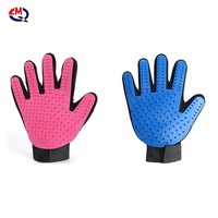 silicone pet bathing gloves for pet grooming glove set pet shedding glove pair breathable