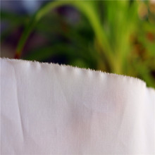 150tc cotton/poly vat dyed champagne color plain percale close selvedge fabric for flat sheet