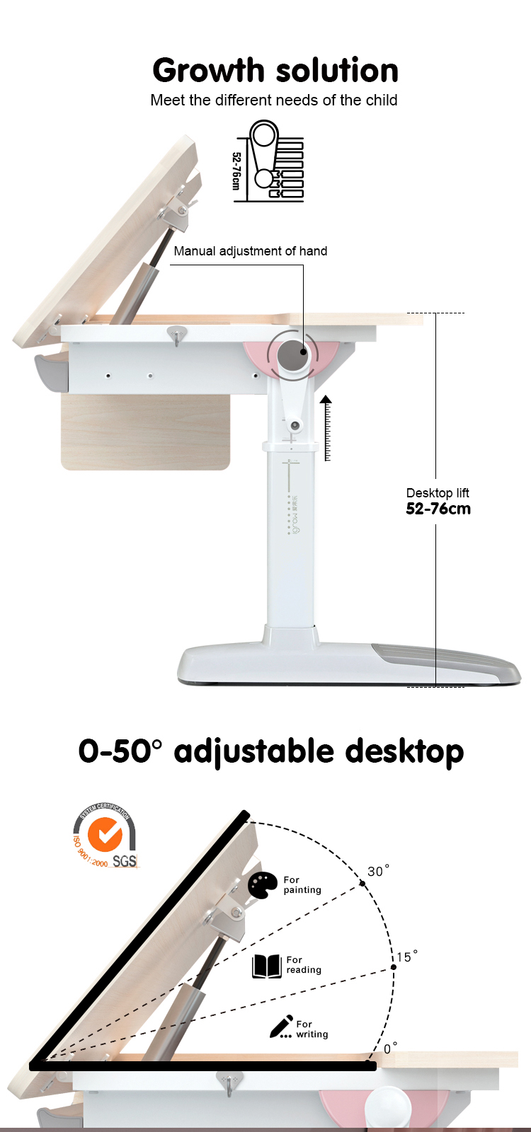 igrow simple study desk/ wooden study desk/ small study desk
