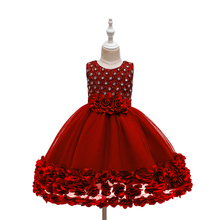 <strong>Girl's</strong> <strong>Dress</strong> Rose Bow Princess <strong>Dress</strong> Kids Wedding <strong>Dress</strong>