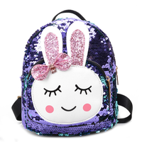 2019 New Backpack Cute Rabbit Ears Casual Backpack Tide Boys and Girls Schoolbag