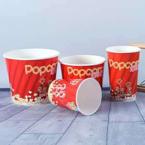 New Red Popcorn Bucket More Size Disposable Paper Cup