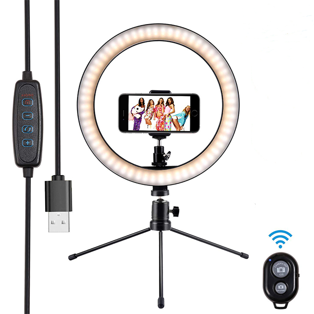 <strong>10</strong>&quot; Live Streaming LED Ring Light Selfie with Remote <strong>Control</strong> &amp;Cellphone Holder