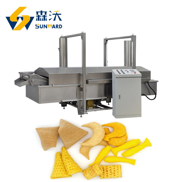 300-400kg/h big capacity fried potato chips bugle triangle production line fried pellet processing machinery