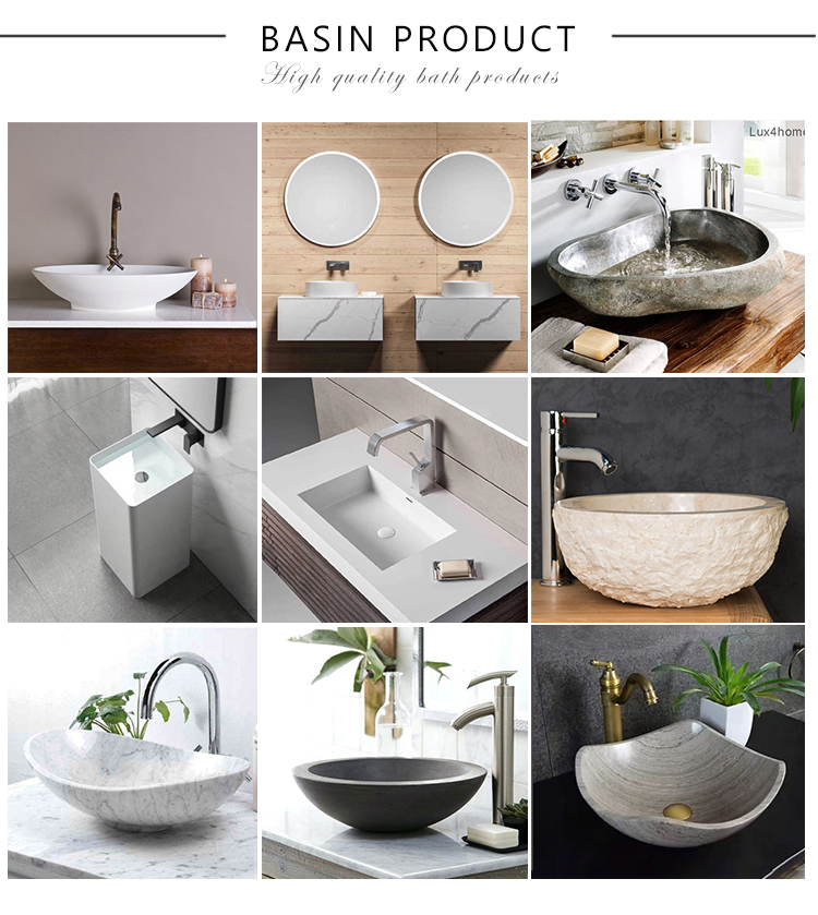 Latest product custom design bathroom freestanding black artificial stone wash basin sink for directly sale
