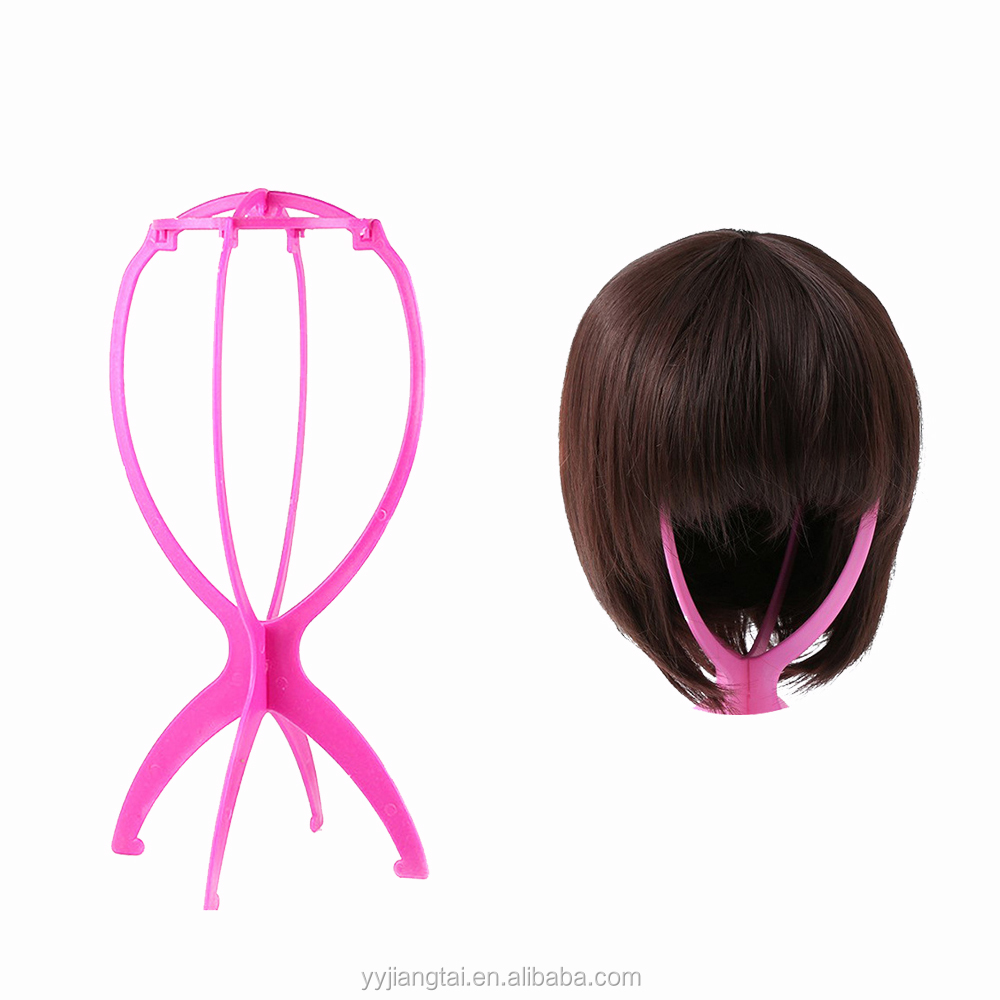 Wholesale Plastic Foldable Wig Stand For Putting Wigs