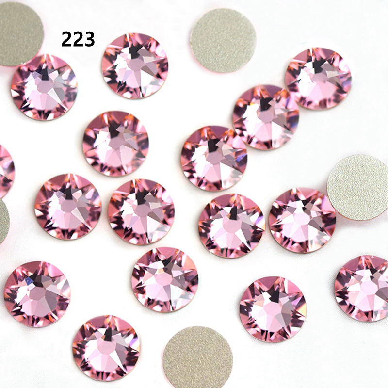 Hotselling new color stone crystal AB color ss20 Hotfix rhinestone High quality iron on strass hotfix rhinestone with glue