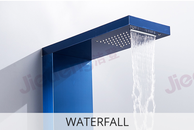 factory wholesale Home Bathroom Artificial 5 Functions Shower Panel Waterfall Set with good quality