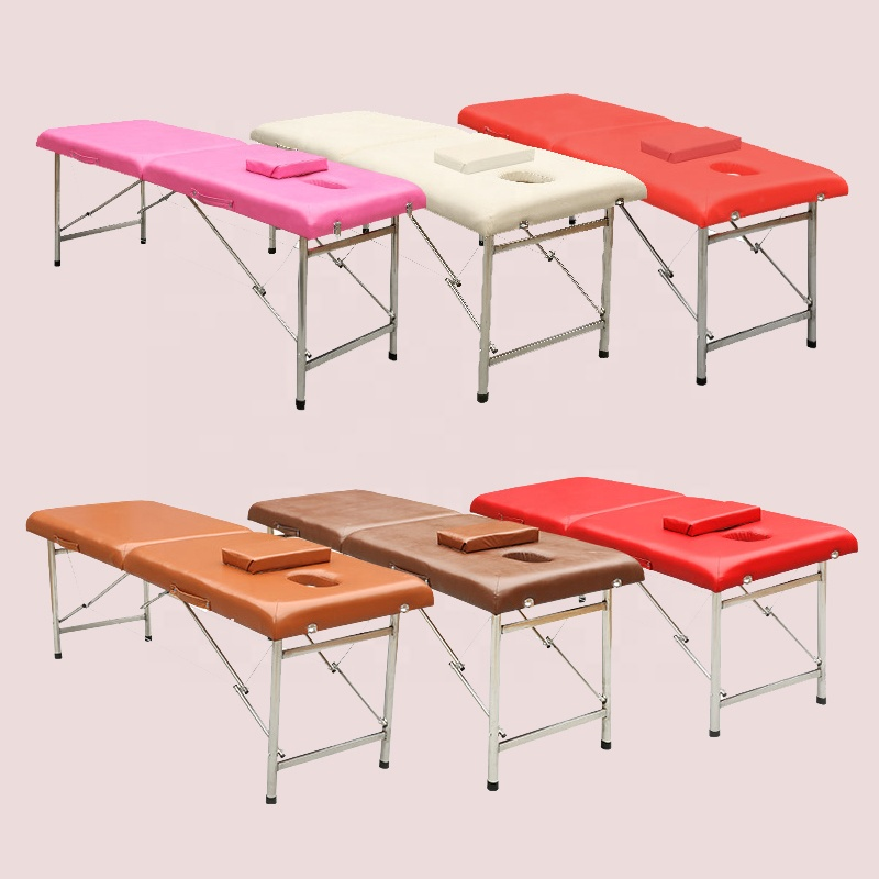 Home physiotherapy aluminum folding portable massage bed facial bed