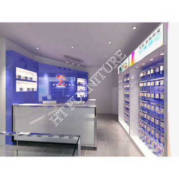 Mobile Display shop Decoration cell Phone shop design display showcase for sale