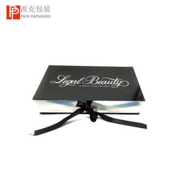Luxury hologram paper magnetic closure flip box for extension hair