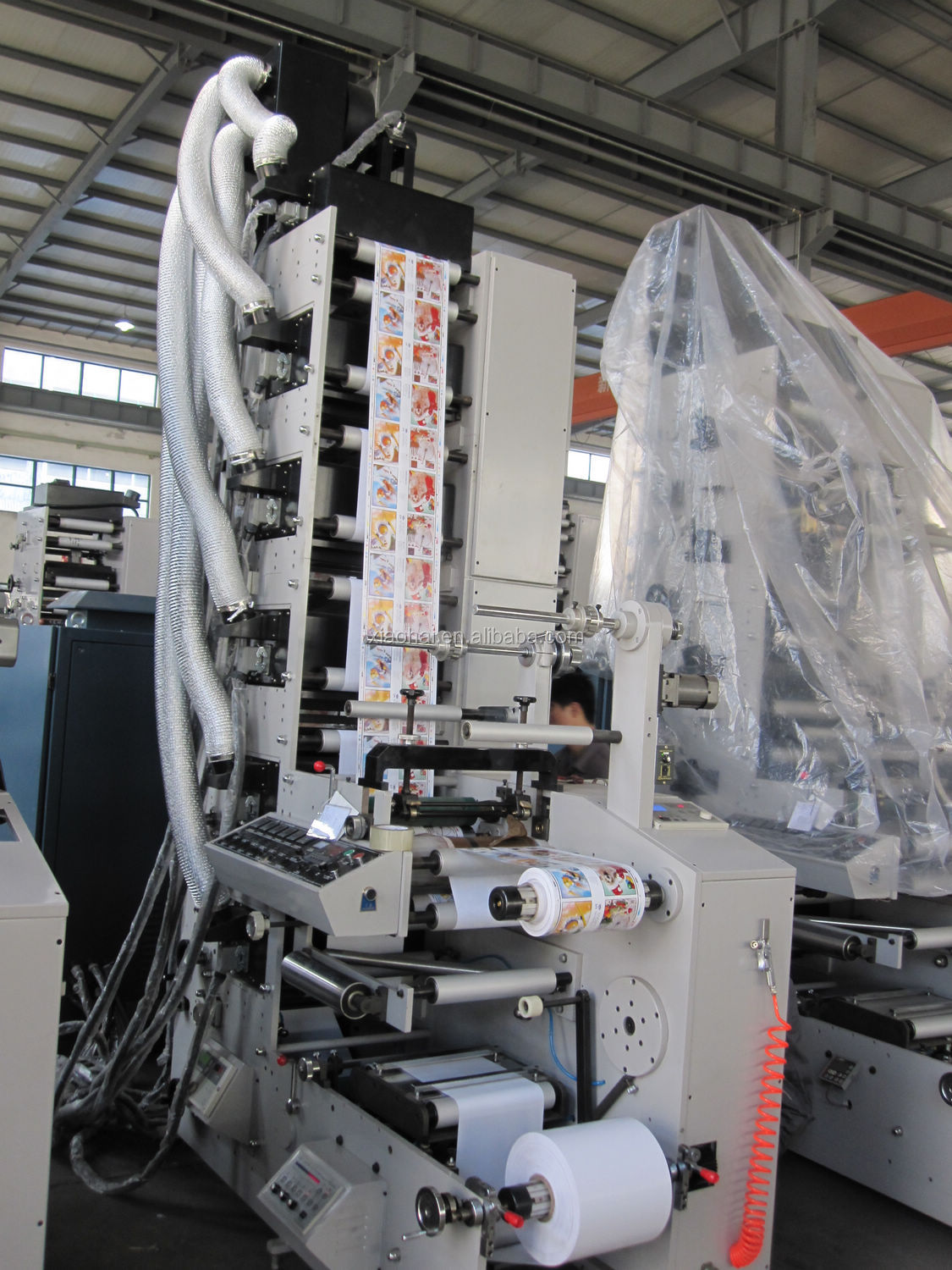 UV IR Flexo Adhesive Label Sticker Printing Machines With Die Cutting,Cold Stamping