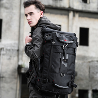 Factory roll top foldable mountain nylon camping bag mens anti theft travel custom hiking laptop backpack bag backpacks