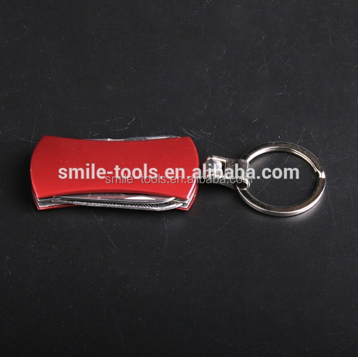 Multifunction Mini Keyring Pocket Knife Bottle Opener Edc Multitool Keychain For Gift