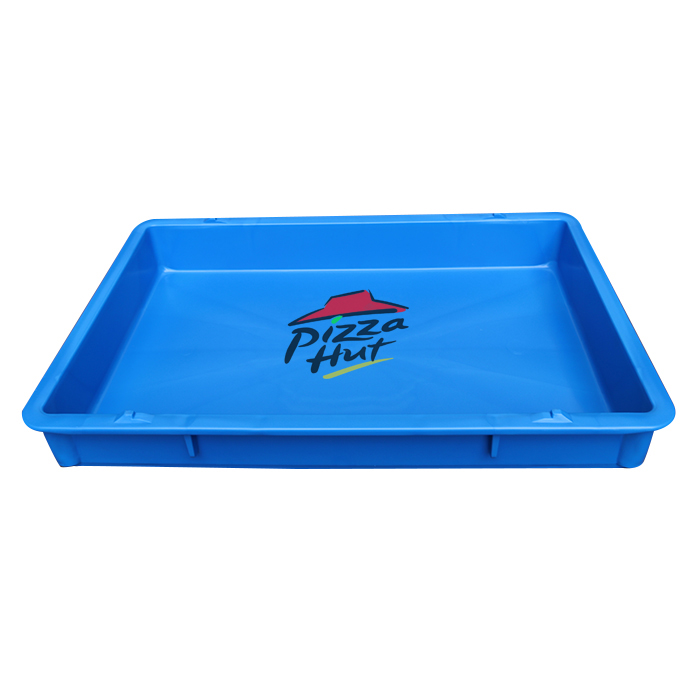 QS 100mm Biscuit Case Bread Cake Storage Trays Plastic Crates Stackable for Pizza Dough Tote Case Boxes for  Food