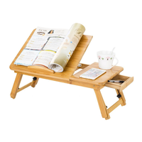 Portable eco-friendly bamboo wooden laptop desk for laptop