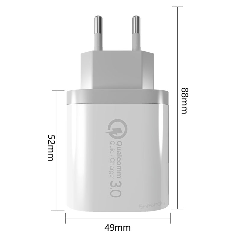Fast USB UK plug phone charger for travelling