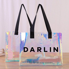 custom transparent PVC shopping bag 2019 reusable fashion pvc tote bags