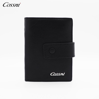 Genuine full grain leather Business Credit Card wallet men short fashional wallet