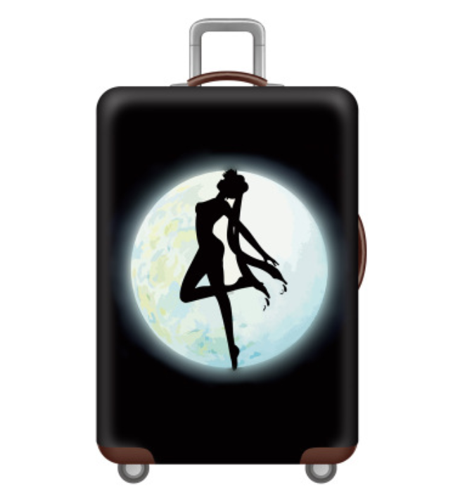 Wholesale Beautiful Travel Custom Printed Spandex luggage cover Four Sizes Suitcase Luggage Protective cover