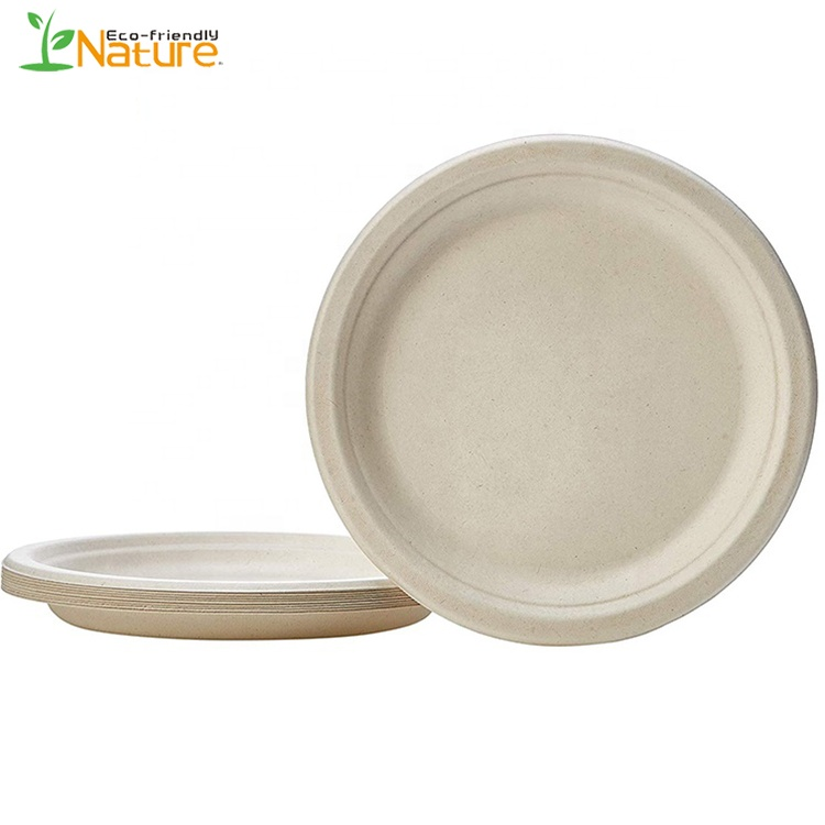 Free Sample Compostable Sugarcane Bagasse Pulp <strong>Plates</strong> for Cake