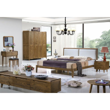 Nordic Modern Style 1.8 & 1.5 Meters nordic Simple Wedding Bed Frame solid oak wood Bed Double Bed