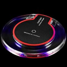 Ultra-Thin Crystal K9 Wireless Charger for iPhone 2019 <strong>Mobile</strong> <strong>Phone</strong> Qi Fast Charge Wireless Charging Base Transmitter Round