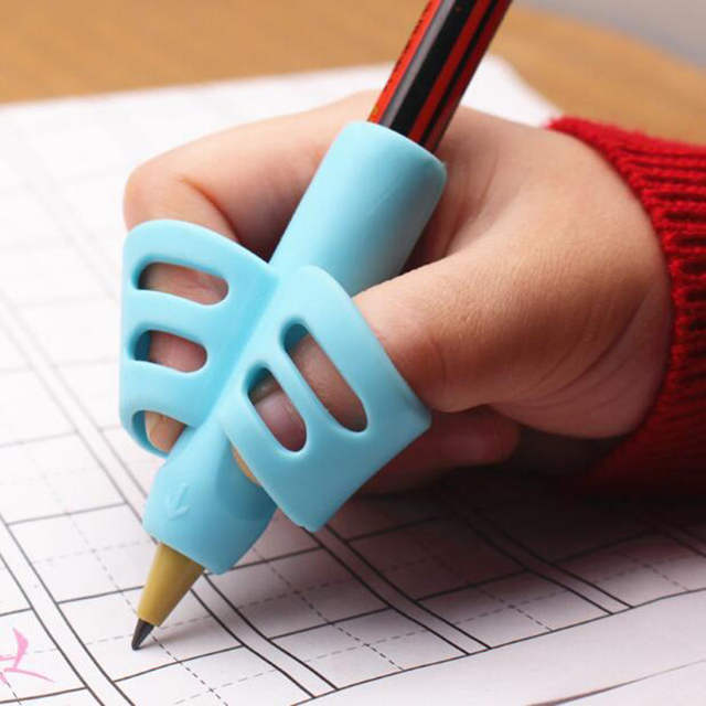 Two-Finger Pencil Grip Training and Cultivate Children Pencil Holder Pen Writing Aid Grip Posture Correction Tool