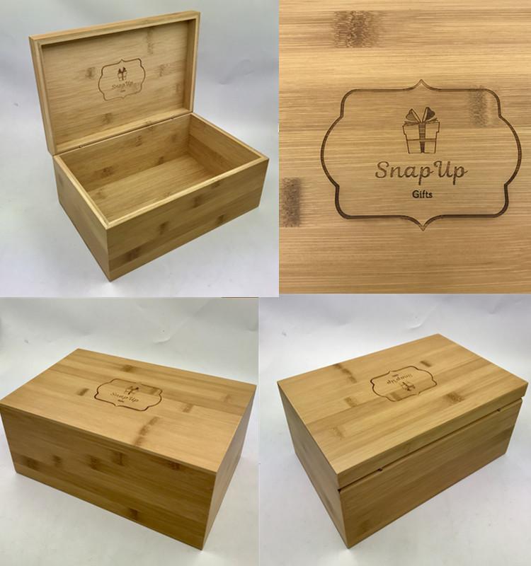 Customized Handmade Luxury Wooden Bamboo Storage Gift Box