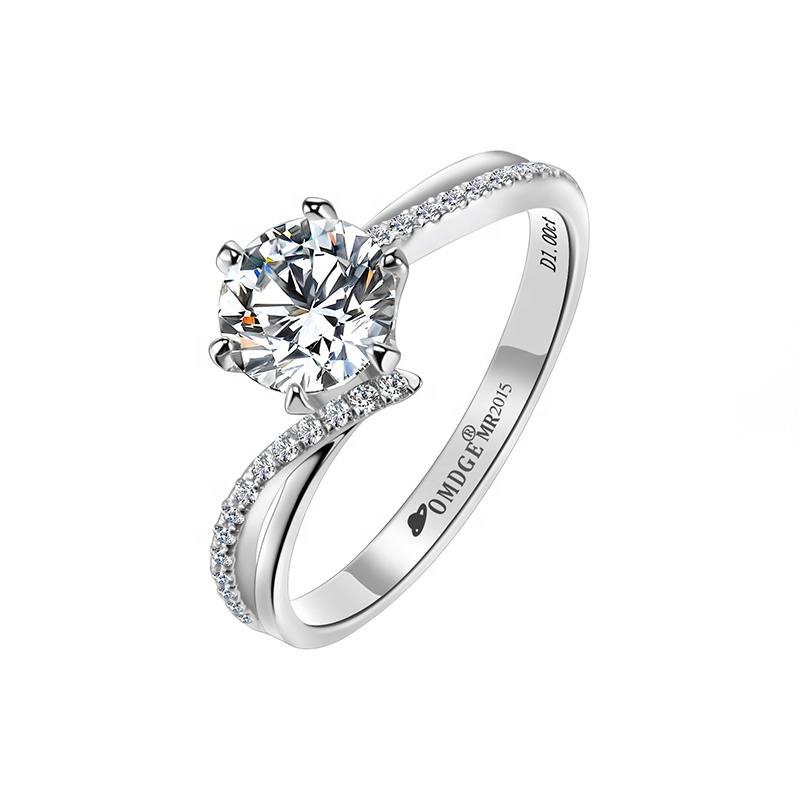 Crown Ring with Moissanite Stone in 925 Silver gift for Christmas & Anniversary