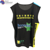 Customized soft fabric 3m reflective Tri blend short sleeve sportswear black vest for Printing
