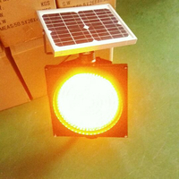 Hot sale traffic signal solar yellow LED flashing beacon warning light