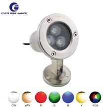 IP68 swimming pool lamp 24V underwater flood 3W landscaping spot lights
