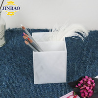 JINBAO marble pencil holder acrylic pen display case for office