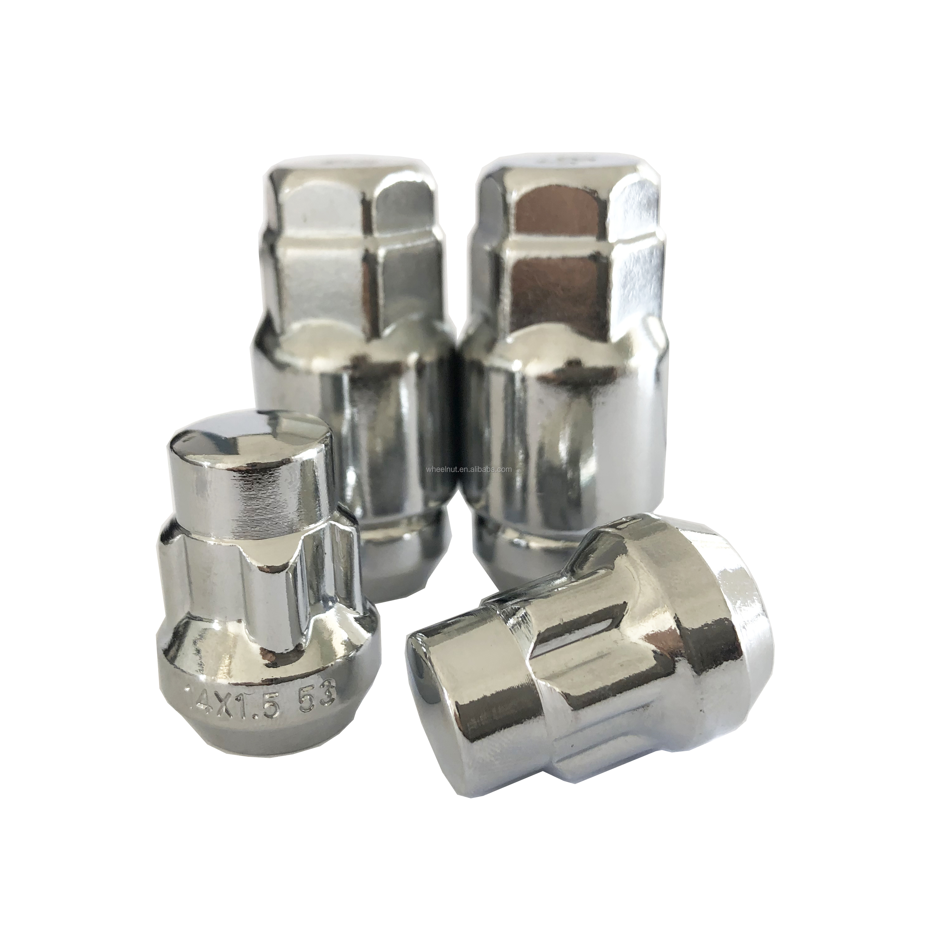 set of 4,12m x 1.5 locking mag wheel chrome lug nuts,with key 3//4 shank,ML3
