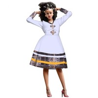 Casual Loose Print Lace Dresses Bazin Riche African Print Dresses for Women Traditional Plus Size African Clothing Party WY3001