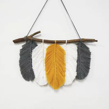 BOHO flower macrame rope <strong>wall</strong> art tapestry <strong>wall</strong> <strong>decorations</strong> living room Macrame Feather <strong>Wall</strong> Hanging
