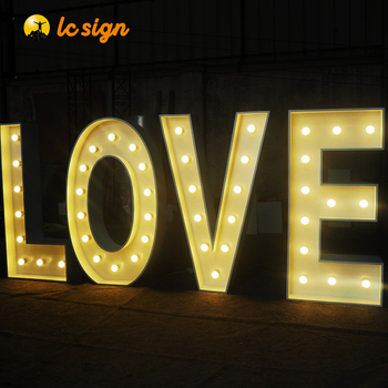 RGB 4ft Marquee Letter Lighted Big Letters Sign and Signage Large Wedding Giant LOVE Letters